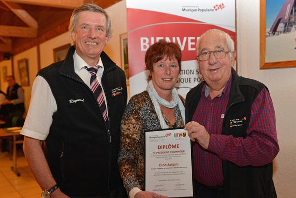 AG 2014 / Raymond, président de section; Judith vice-présidente suisse, Dino président d'honneur section / Photo: claude Sunier