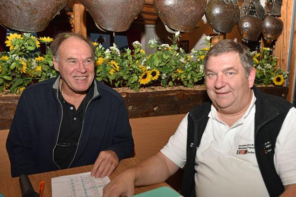 17.10.2015 / 30e anniversaire de la section / Werner, secrétaire et Jean-Daniel, caissier