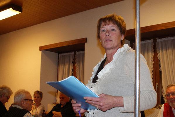 17.01.2015 / Assemblée générale à Lamboing / Judith - vice-présidente centrale / Photo: O.O