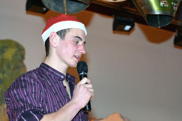 20e Noël folklorique de Cortébert / Kevin Tschan, présentateur / 26.12.2012