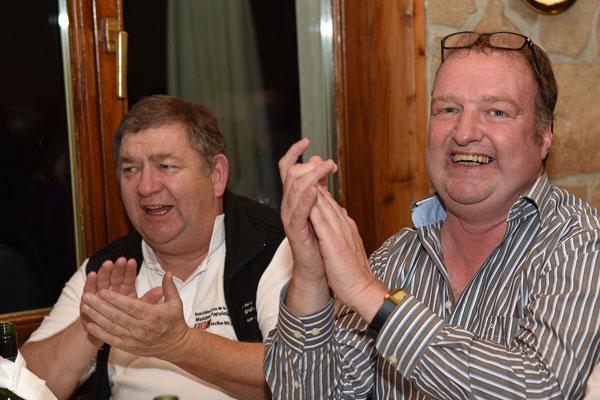 17.10.2015 / 30e anniversaire de la section / Jean-Daniel, caissier et Olivier, membre du comité