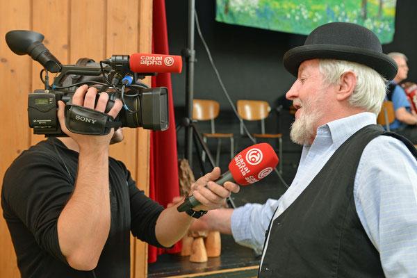 02.02.2014 / Stubete / Nods / La télévision régionale Canal Alpha et Fritz : Photo: Claude Sunier