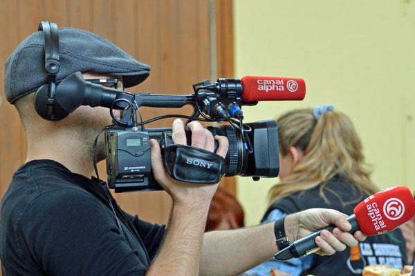 02.02.2014 / Stubete Nods / La télévision régionale Canal Alpha / Photo: Claude Sunier
