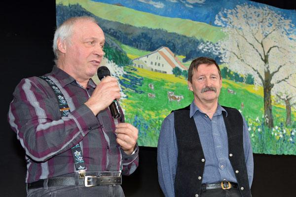 02.02.2014 / Stubete Nods / Henri Baumgartner, maire de Nods et Ernest / Photo: Claude Sunier