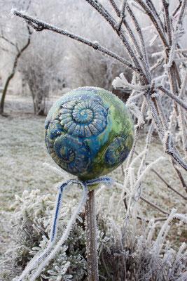Ammoniten Gartenkugel