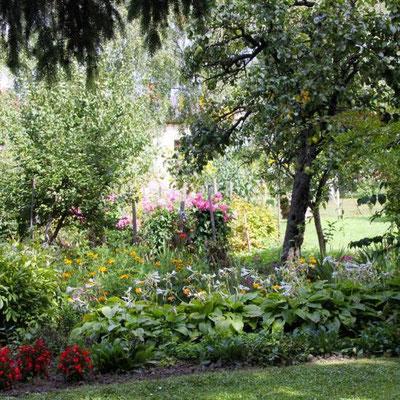 Obstbäume und Zierpflanzen
