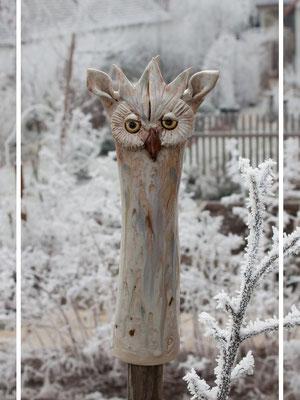 Schnee Eule in creme und weiß