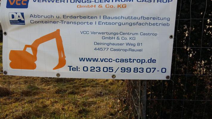 Entkernung des NRW Grundstückes