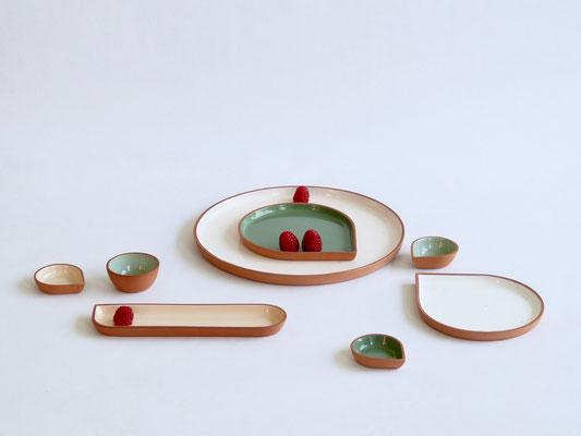 OnA, tableware spring collection 2018  by belgian ceramist ilona van den bergh