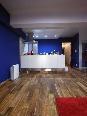 マンション リノベーション 対面型オープンキッチン