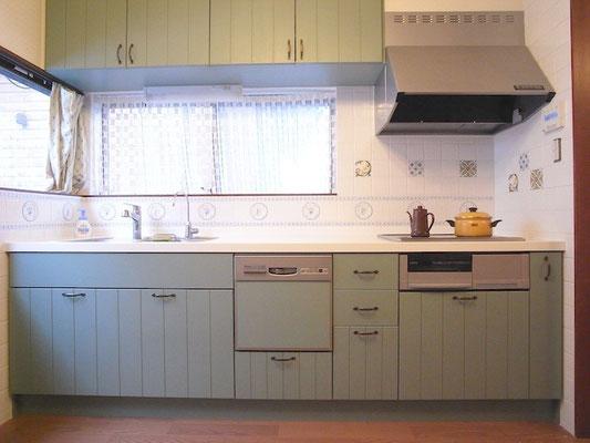 リフォーム 採光のあるキッチンに変更 改装後