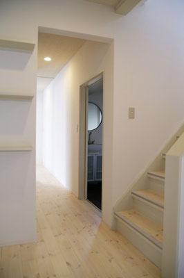 戸建住宅 リノベーション工事 工事完了 廊下