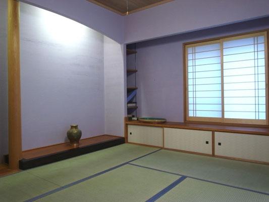 戸建 リノベーション 和室は塗り壁
