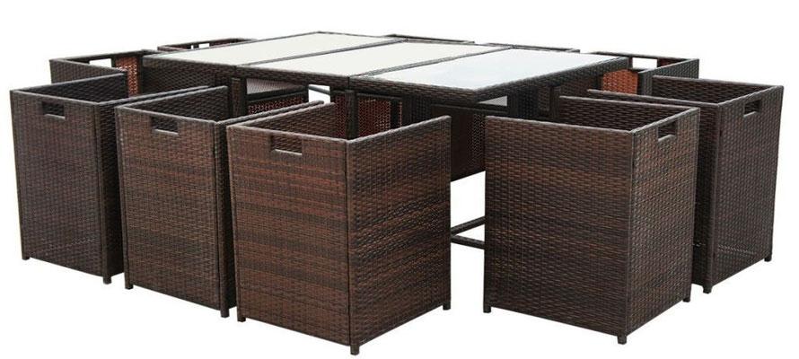 tavolo +sedie +pranzo +giardino +garden +polirattan +polyrattan +rattan +arredo +esterno +sandroshop +online +vendita