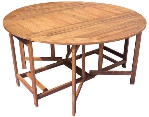 tavolo +giardino +acacia +outdoor +arredo +rotondo +pieghevole