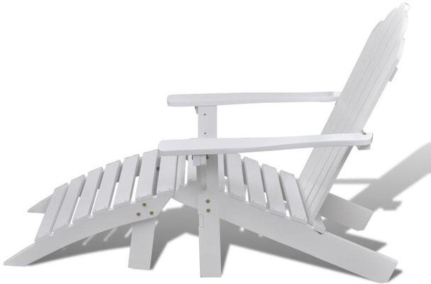 muskoka +legno +bianca +poggiapiedi +sgabello