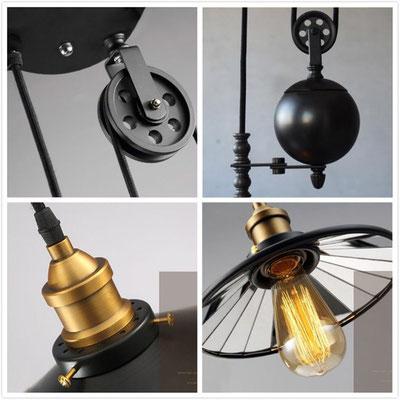 lampadario +lampada +vintage +contrappeso +sali scendi +sandroshop +vendita +shopping