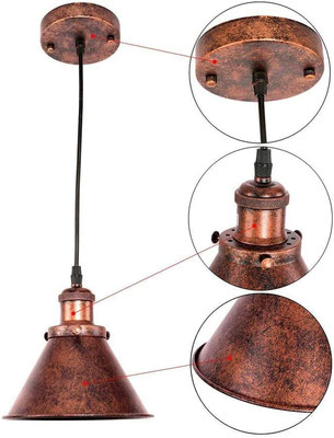 lampada sospensione #rame +vintage +industriale +sandroshop +vendita +online +shopping