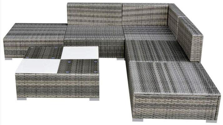 divano #polirattan #grigio #angolo #angolare #arredo #giardino #esterni #sandroshop #tavolino