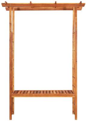 pergola #acacia #giardino #rampicante #panca #trattata #legno #esterno