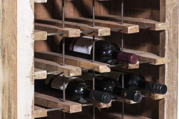 bottigliera +porta bottiglie +cantina +cantinetta +vino +legno +recupero +teak +riciclato +mobile +bar +pub +vintage +etnico