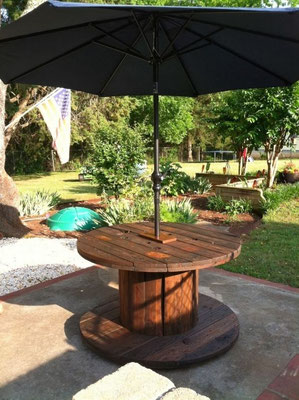 arredo +giardino +tavolo +ombrellone +bobina +legno +riciclo +sandro +shop +online +shopping +vendita +flangie