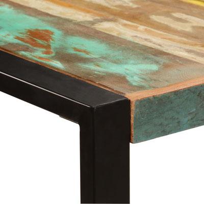 tavolo #pranzo #legno #massello #riciclato #recupero #vintage #pub #bar #industriale #ferro #acciaio