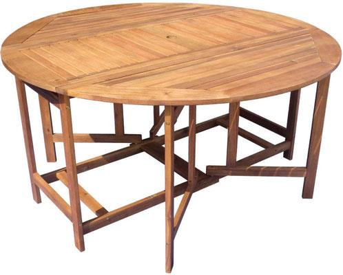 set giardino +legno +acacia +esterno +outdoor +sandroshop +tavolo +rotondo +ovale