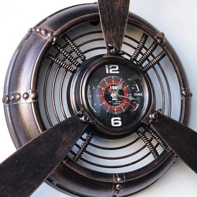 orologio #parete #elica #vintage #ramato #ottonato
