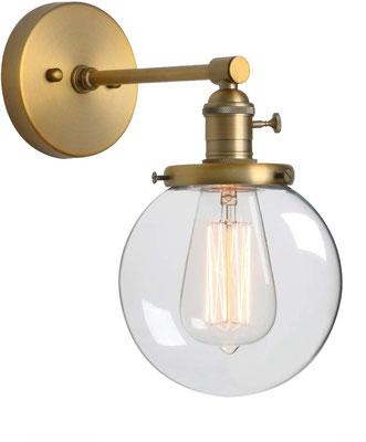 lampada a parete #vintage #industriale #ottone #sandroshop #boccia #vertro