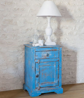 comodino #legno #provenzale #stile #invecchiato #usato #anticato #turchese #Shabby
