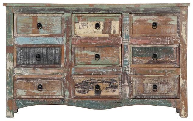 comò #cassettiera #madia #legno #riciclato #multicolore #recupero #vendiat #online #sandroshop