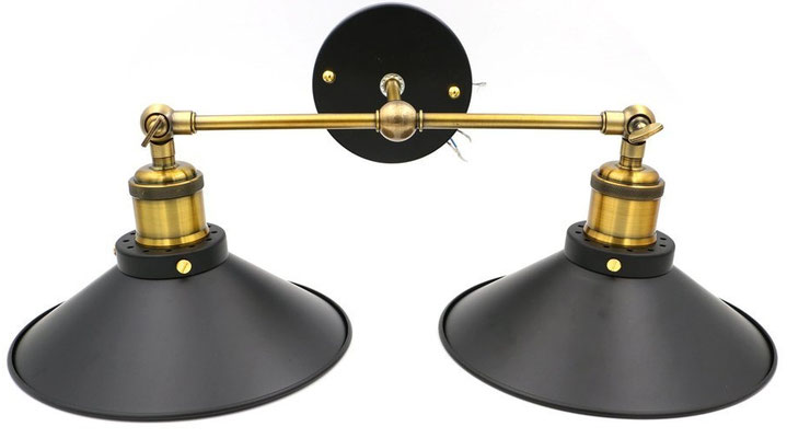 lampada +vintage +parete +industriale +sandroshop +vendita +online