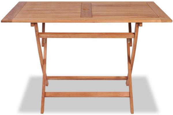 tavolo +legno teak +120 +cm +ripiegabile