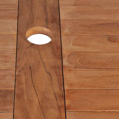 tavolo legno teak 120
