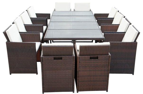tavolo +sedie +pranzo +giardino +garden +polirattan +polyrattan +rattan +arredo +esterno +sandroshop +online +vendita +12 posti
