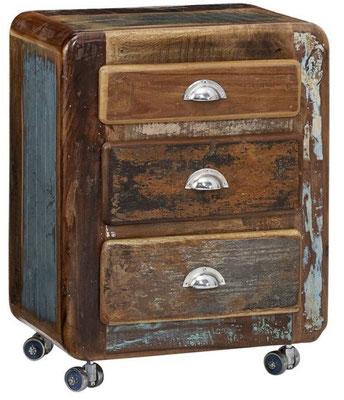 mobile +mobiletto +vintage +multicolore +riciclato +recupero +anticato +3 +cassetti