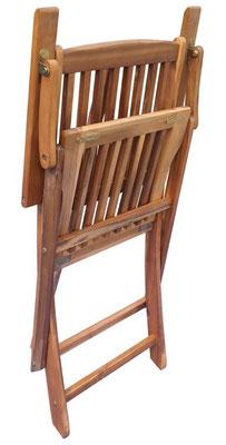 sedia acacia +arredo giardino +sandro shop +online +braccioli +ripiegabile