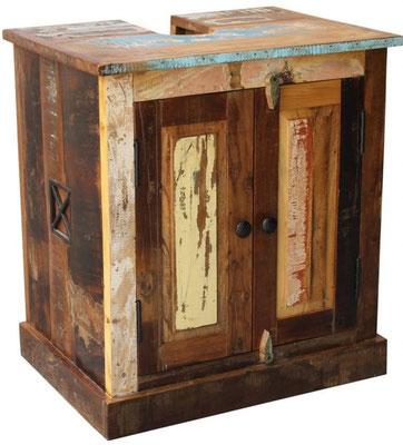 mobile bagno +legno +riciclato +vintage +sotto lavandino +bagno +arredo +sandro shopping online