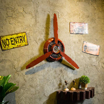 orologio #parete #elica #vintage #rosso