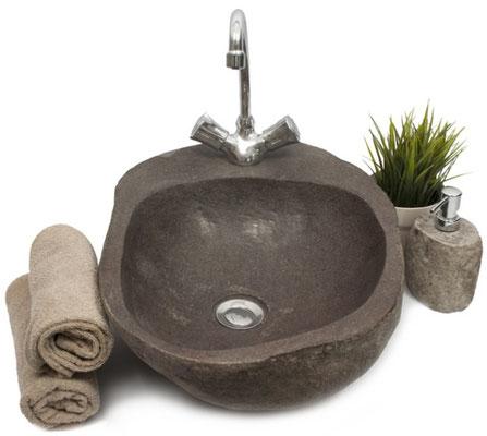 lavello #lavandino #pietra #sasso #fiume #fossile #arredo #bagno #sandroshop