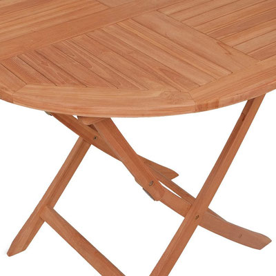 tavolo +legno +teak +oliato +esterno +pieghevole +arredo +giardino