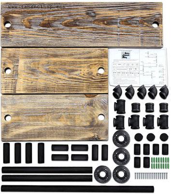 mensole +tubi +idraulici +vintage +stile +industriale +pollici +raccordi
