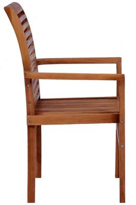 sedia #teak #impilabile #braccioli #sandro #shop