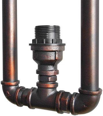 lampada #tubi #idraulici #parete #applique #stile #industriale #vintage