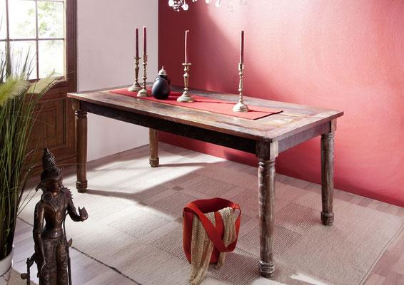 tavolo #legno #riciclato #vintage #etnico #chic #coloniale #industrial #artigianale