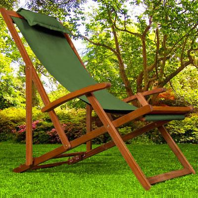 sedia sdraio +sandro shop +arredo + giardino +legno +acacia +outdoor +verde