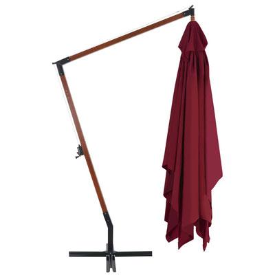 ombrellone #legno #braccio #laterale #sbalzo #rosso #4x3m