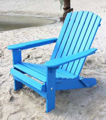 muskoka +adirondack +sedia sdraio +sandro shop +arredo + giardino +legno +acacia +outdoor +azzurra
