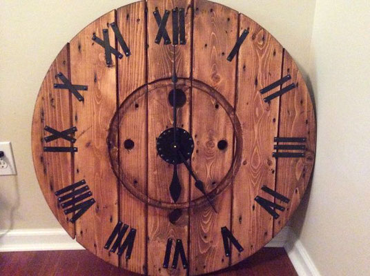 flangia +legno +bobina +riciclo +orologio +industriale +sandro +shop +online +shopping +vendita